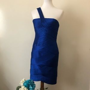 BCBG Maxazria Royal Blue Cocktail Party Dress Sz10